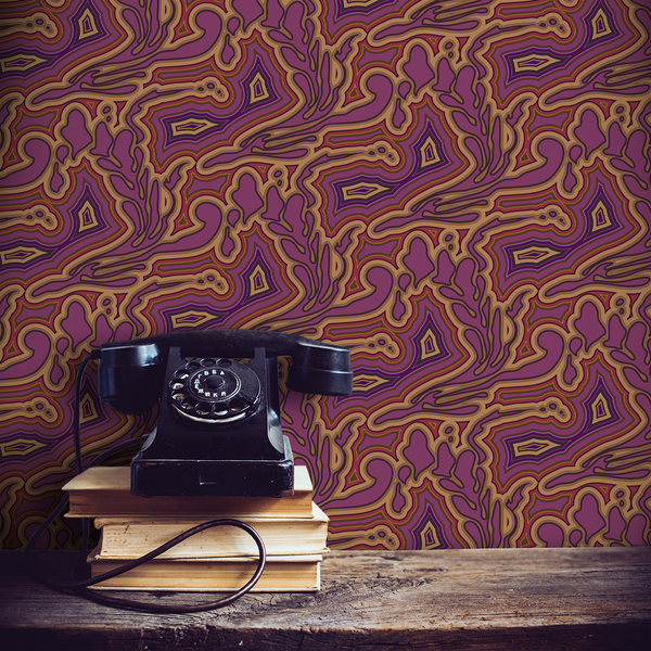 Submariner - Agate - Trendy Custom Wallpaper | Contemporary Wallpaper Designs | The Detroit Wallpaper Co.