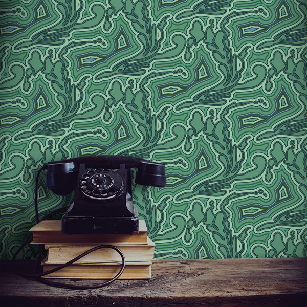 Submariner - Malachite - Trendy Custom Wallpaper | Contemporary Wallpaper Designs | The Detroit Wallpaper Co.