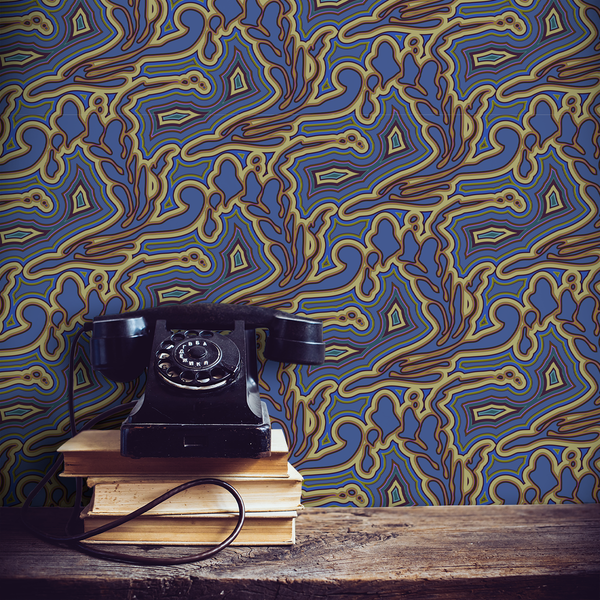 Submariner - Obsidian - Trendy Custom Wallpaper | Contemporary Wallpaper Designs | The Detroit Wallpaper Co.