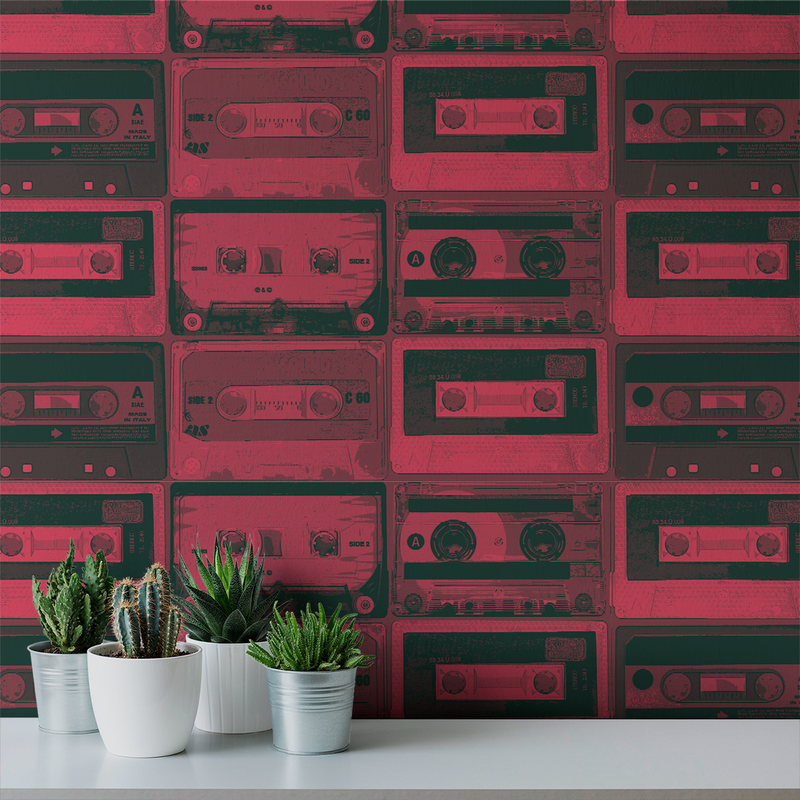 Tapestack - Mixtape - Trendy Custom Wallpaper | Contemporary Wallpaper Designs | The Detroit Wallpaper Co.