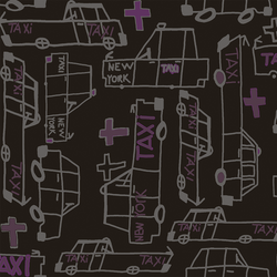Taxi - Bronx <br> Heidelberg Project - Trendy Custom Wallpaper | Contemporary Wallpaper Designs | The Detroit Wallpaper Co.