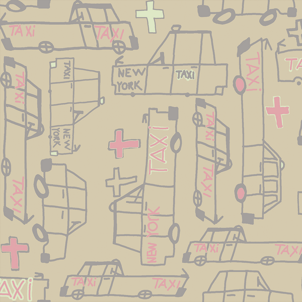 Taxi - Queens <br> Heidelberg Project - Trendy Custom Wallpaper | Contemporary Wallpaper Designs | The Detroit Wallpaper Co.