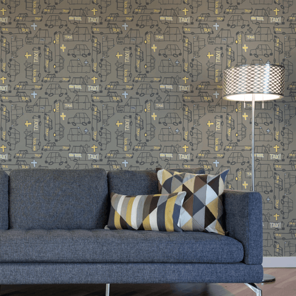 Taxi - Trendy Custom Wallpaper | Contemporary Wallpaper Designs | The Detroit Wallpaper Co.