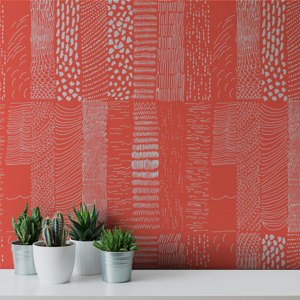Terra - Sorbet <br> Elizabeth Salonen - Trendy Custom Wallpaper | Contemporary Wallpaper Designs | The Detroit Wallpaper Co.