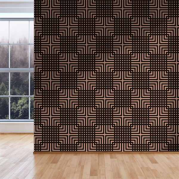 The Grid - Craft - Trendy Custom Wallpaper | Contemporary Wallpaper Designs | The Detroit Wallpaper Co.