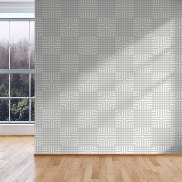 The Grid - Muted - Trendy Custom Wallpaper | Contemporary Wallpaper Designs | The Detroit Wallpaper Co.