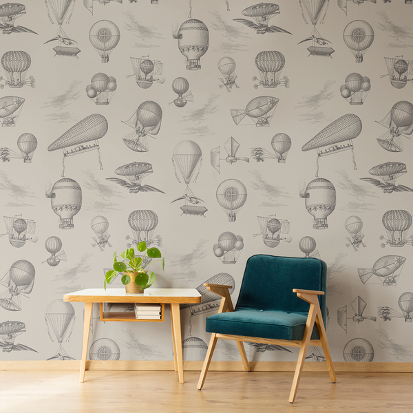 The Wrong Brothers - Parchment - Trendy Custom Wallpaper | Contemporary Wallpaper Designs | The Detroit Wallpaper Co.