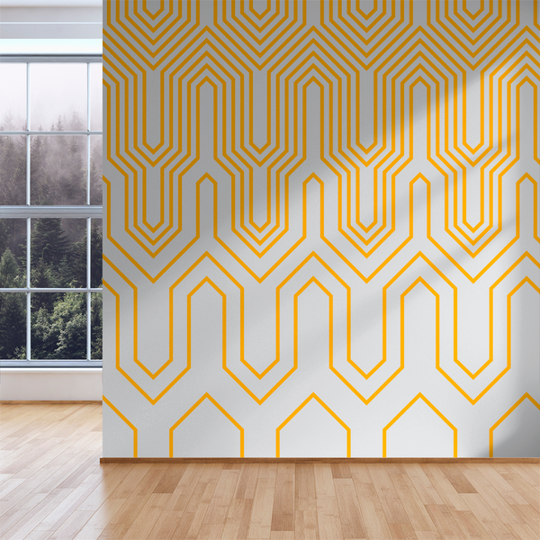 Thumbs Up - Caution - Trendy Custom Wallpaper | Contemporary Wallpaper Designs | The Detroit Wallpaper Co.