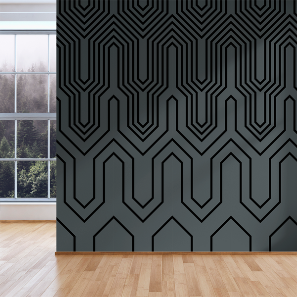Thumbs Up - Circuit - Trendy Custom Wallpaper | Contemporary Wallpaper Designs | The Detroit Wallpaper Co.