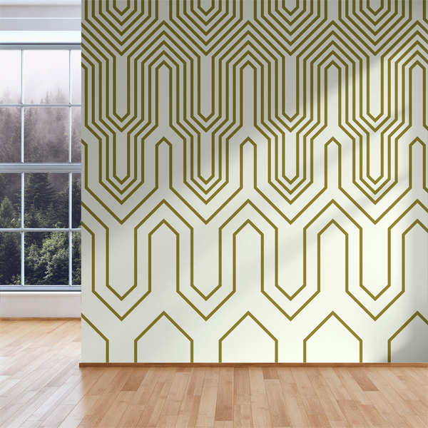 Thumbs Up - Golden - Trendy Custom Wallpaper | Contemporary Wallpaper Designs | The Detroit Wallpaper Co.