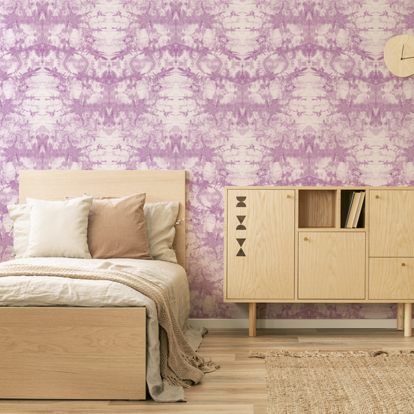 Tie-Dye - Gypsy - Trendy Custom Wallpaper | Contemporary Wallpaper Designs | The Detroit Wallpaper Co.
