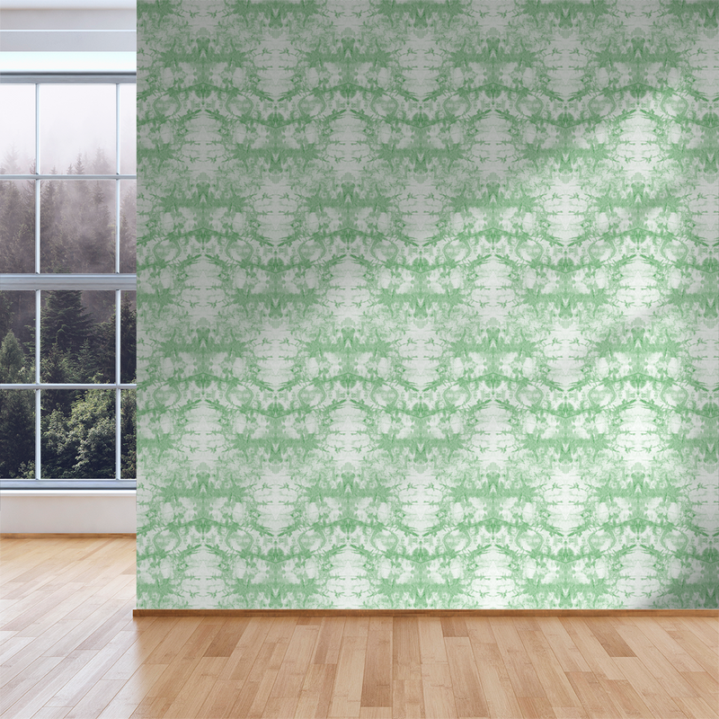 Tie-Dye - Sap - Trendy Custom Wallpaper | Contemporary Wallpaper Designs | The Detroit Wallpaper Co.