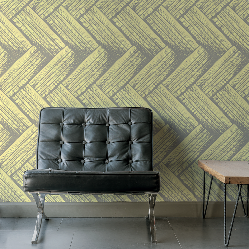 Tirenation - Speedway - Trendy Custom Wallpaper | Contemporary Wallpaper Designs | The Detroit Wallpaper Co.