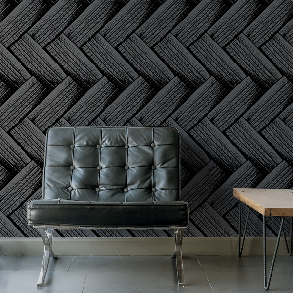 Tirenation - Tread - Trendy Custom Wallpaper | Contemporary Wallpaper Designs | The Detroit Wallpaper Co.