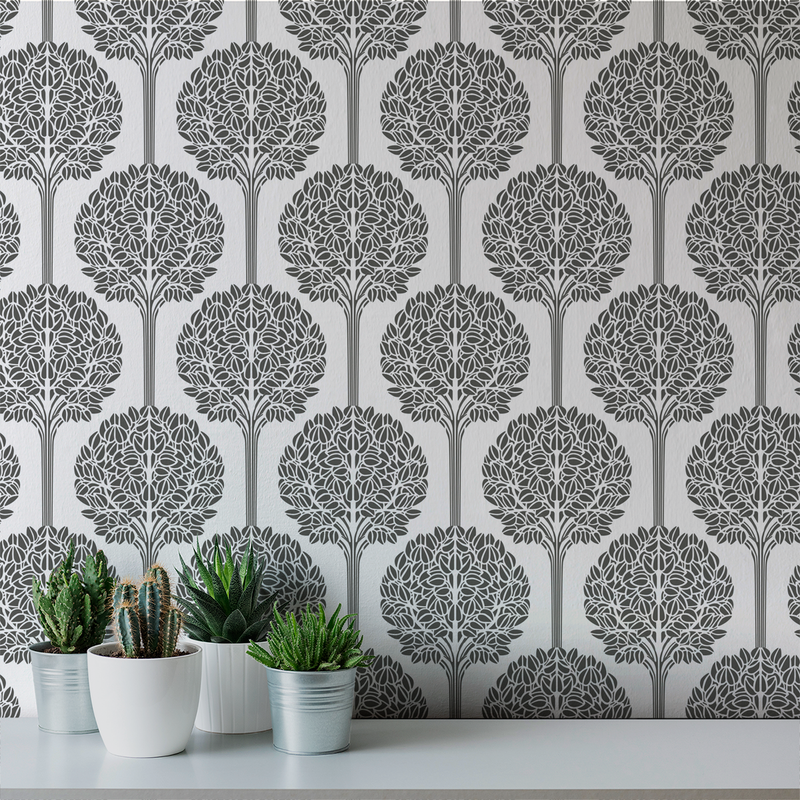 Topiary - Formal - Trendy Custom Wallpaper | Contemporary Wallpaper Designs | The Detroit Wallpaper Co.