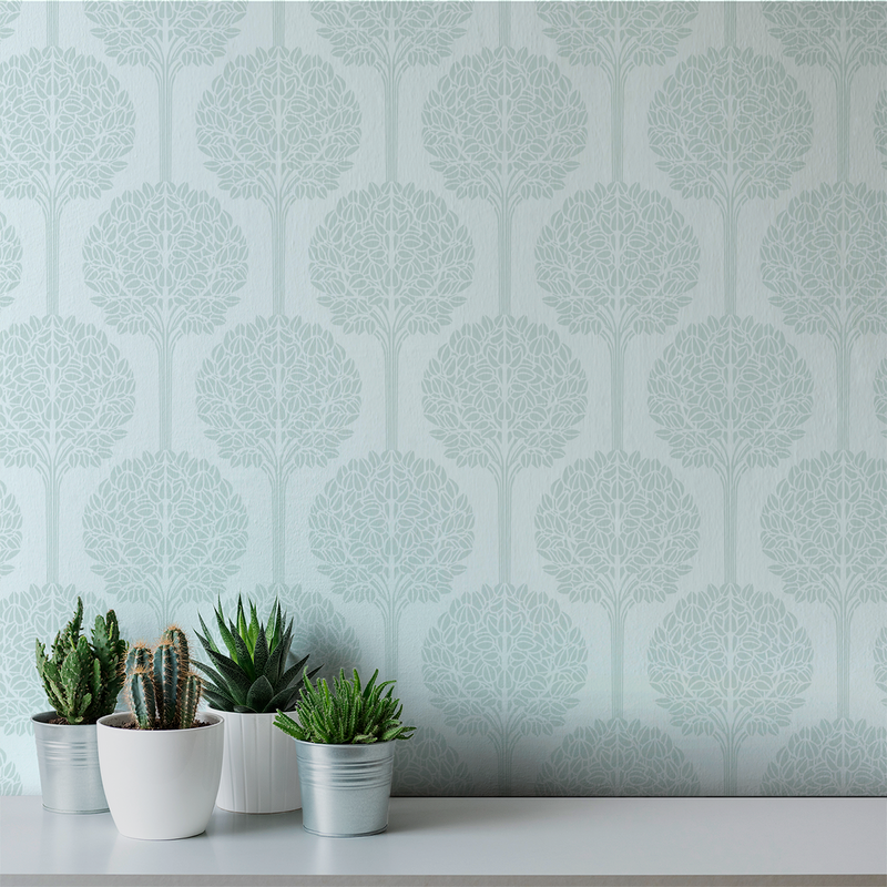 Topiary - Understated - Trendy Custom Wallpaper | Contemporary Wallpaper Designs | The Detroit Wallpaper Co.