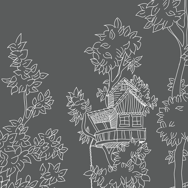 Tree House - Blackboard - Trendy Custom Wallpaper | Contemporary Wallpaper Designs | The Detroit Wallpaper Co.