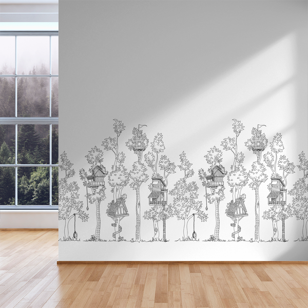 Tree House - Marker - Trendy Custom Wallpaper | Contemporary Wallpaper Designs | The Detroit Wallpaper Co.