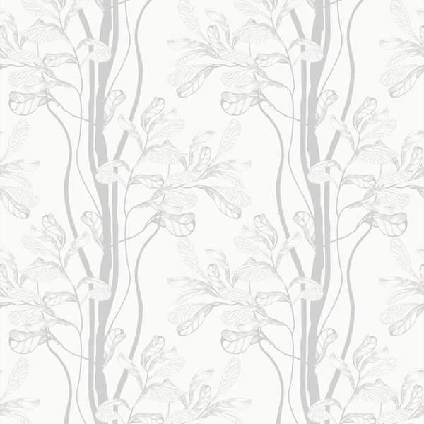 Tree - Whitewash - Trendy Custom Wallpaper | Contemporary Wallpaper Designs | The Detroit Wallpaper Co.