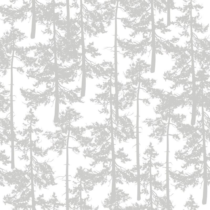 Treetop - Fresh Snow - Trendy Custom Wallpaper | Contemporary Wallpaper Designs | The Detroit Wallpaper Co.
