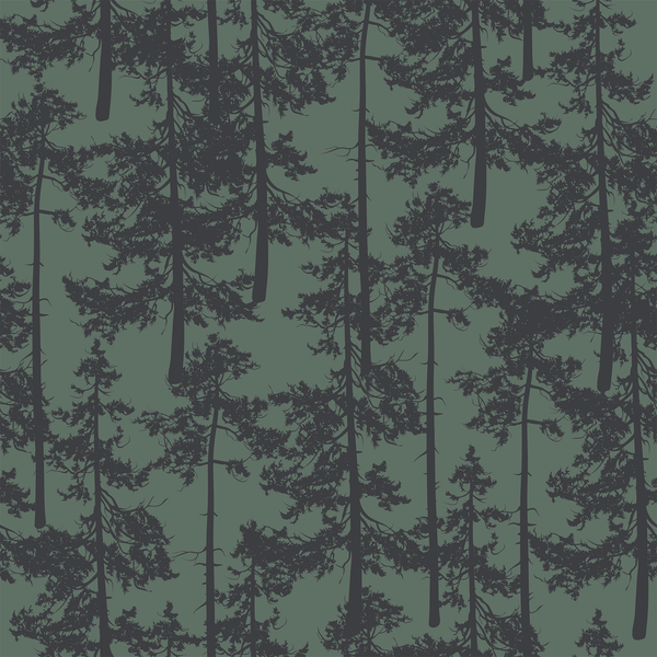 Treetop - Twilight - Trendy Custom Wallpaper | Contemporary Wallpaper Designs | The Detroit Wallpaper Co.