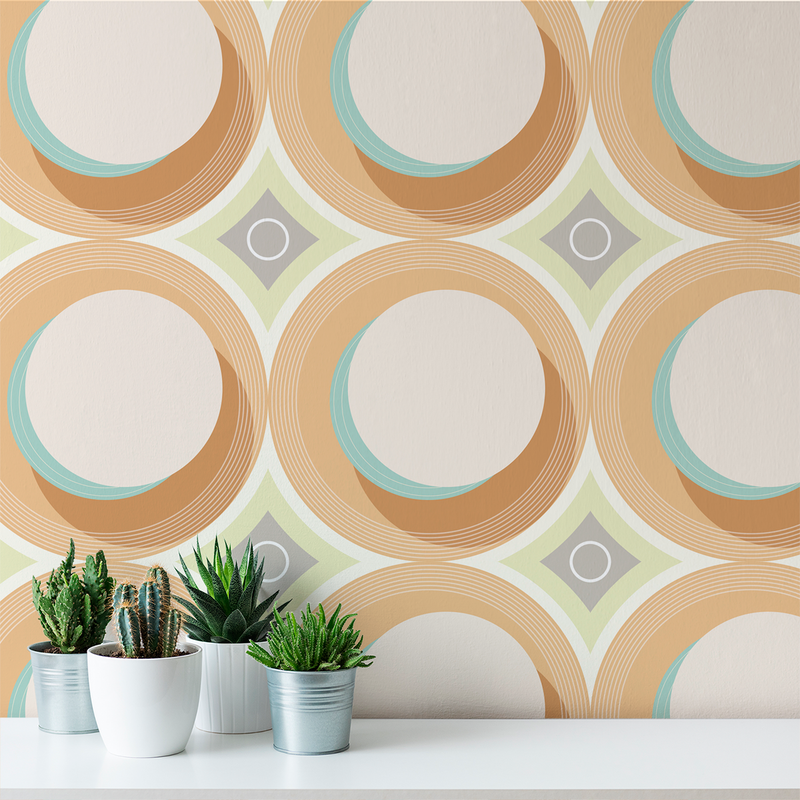 Turn Table - Alternative - Trendy Custom Wallpaper | Contemporary Wallpaper Designs | The Detroit Wallpaper Co.