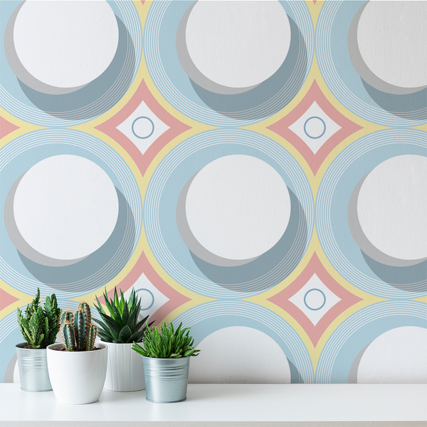Turn Table - Flow - Trendy Custom Wallpaper | Contemporary Wallpaper Designs | The Detroit Wallpaper Co.