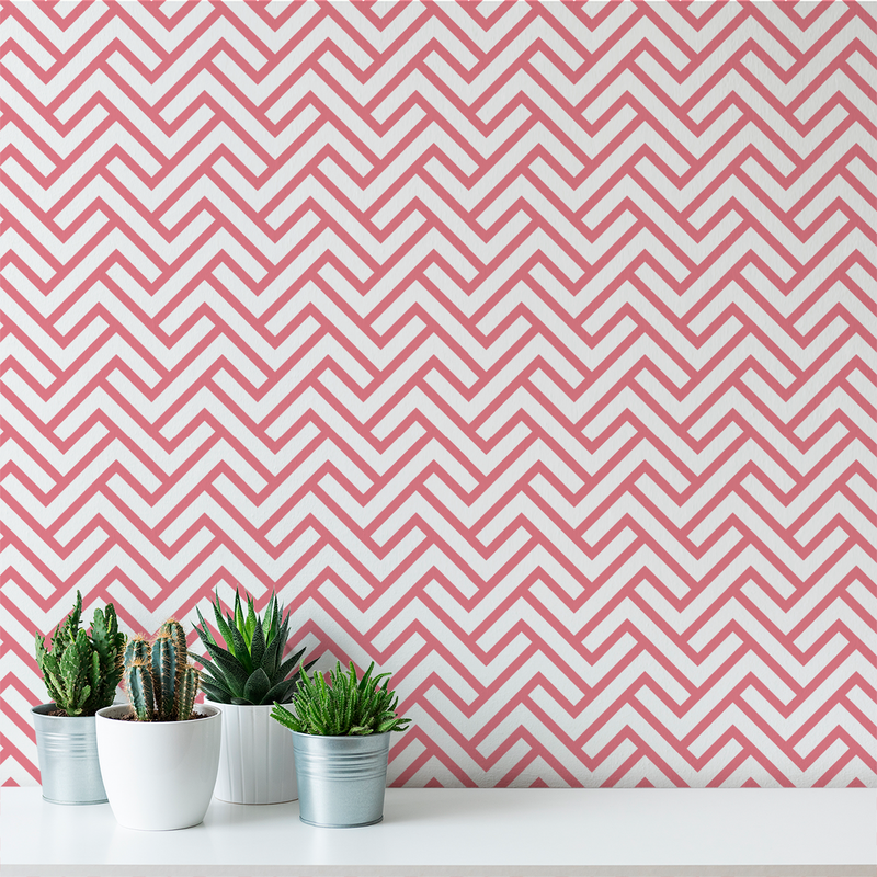 Turnkey Chevron - Fille - Trendy Custom Wallpaper | Contemporary Wallpaper Designs | The Detroit Wallpaper Co.