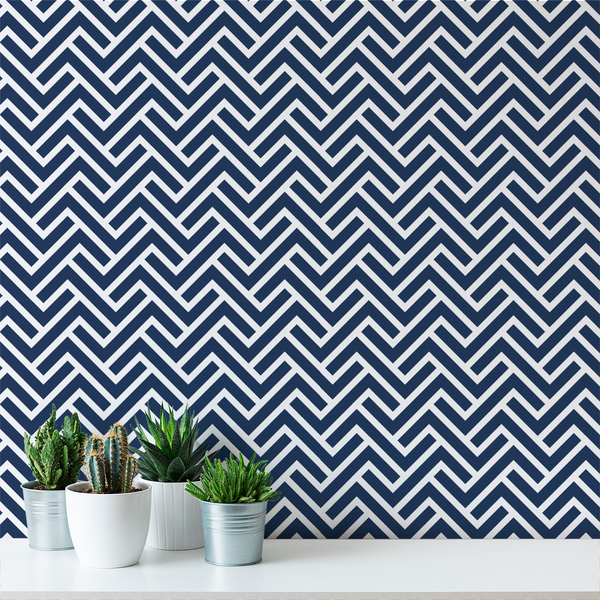 Turnkey Chevron - Greek - Trendy Custom Wallpaper | Contemporary Wallpaper Designs | The Detroit Wallpaper Co.