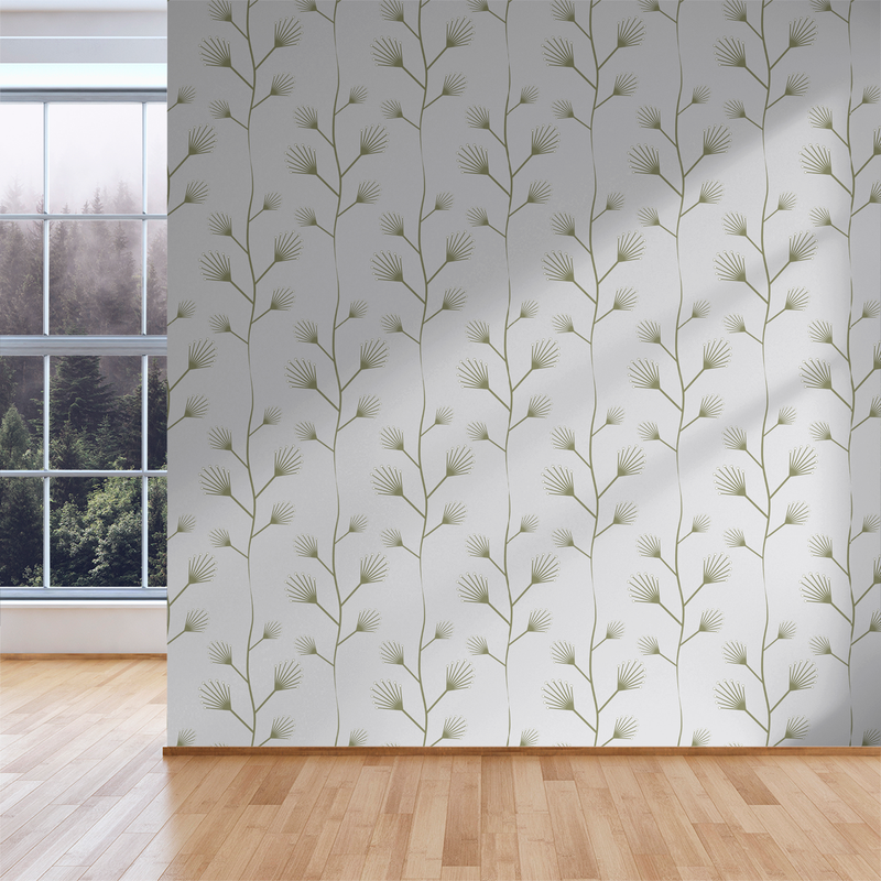 Twinkle - Snowflake - Trendy Custom Wallpaper | Contemporary Wallpaper Designs | The Detroit Wallpaper Co.