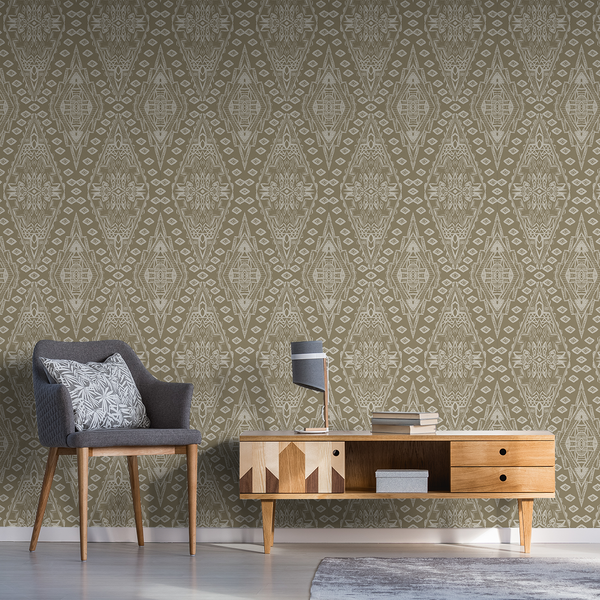 Uma - Ratan - Trendy Custom Wallpaper | Contemporary Wallpaper Designs | The Detroit Wallpaper Co.