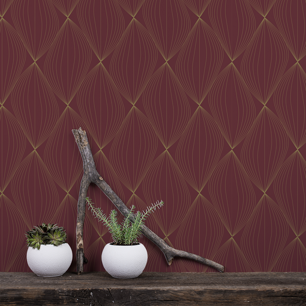 Undulate - Ballroom - Trendy Custom Wallpaper | Contemporary Wallpaper Designs | The Detroit Wallpaper Co.