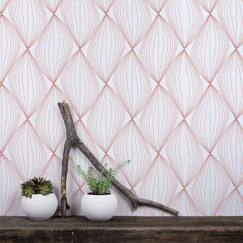 Undulate - Salsa - Trendy Custom Wallpaper | Contemporary Wallpaper Designs | The Detroit Wallpaper Co.
