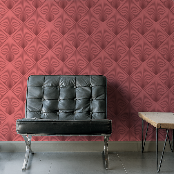 Uplift - Rouge - Trendy Custom Wallpaper | Contemporary Wallpaper Designs | The Detroit Wallpaper Co.