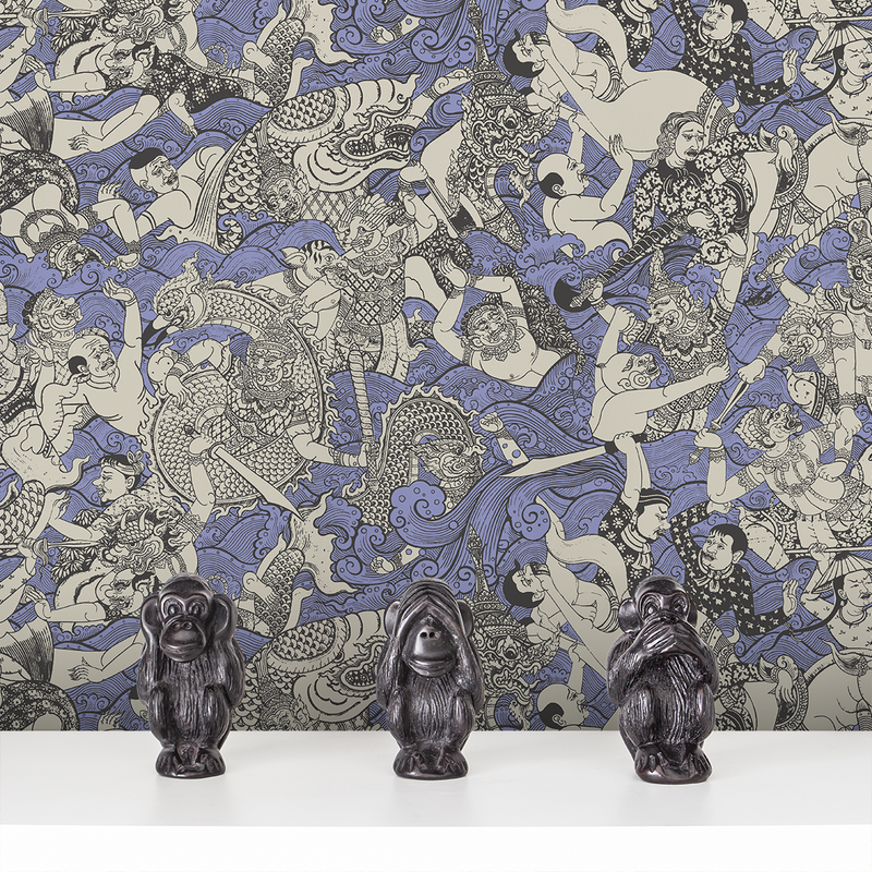 Wat - Temple - Trendy Custom Wallpaper | Contemporary Wallpaper Designs | The Detroit Wallpaper Co.