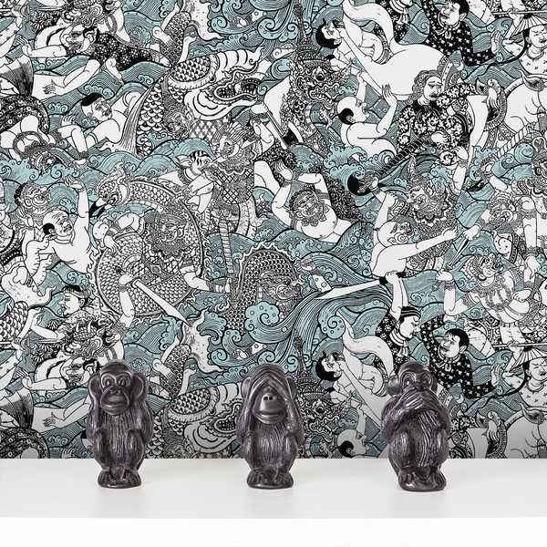 Wat - Thai - Trendy Custom Wallpaper | Contemporary Wallpaper Designs | The Detroit Wallpaper Co.