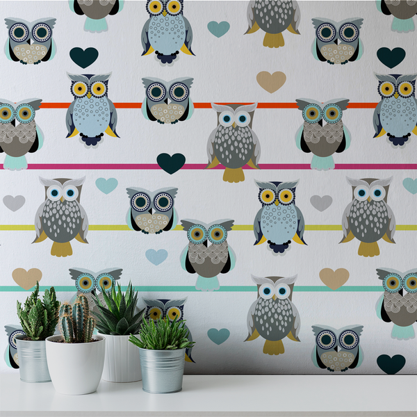 Whoot - Playful - Trendy Custom Wallpaper | Contemporary Wallpaper Designs | The Detroit Wallpaper Co.