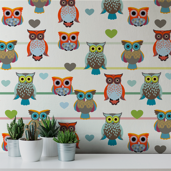 Whoot - Whimsy - Trendy Custom Wallpaper | Contemporary Wallpaper Designs | The Detroit Wallpaper Co.