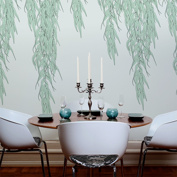 Willow - Dusk - Trendy Custom Wallpaper | Contemporary Wallpaper Designs | The Detroit Wallpaper Co.