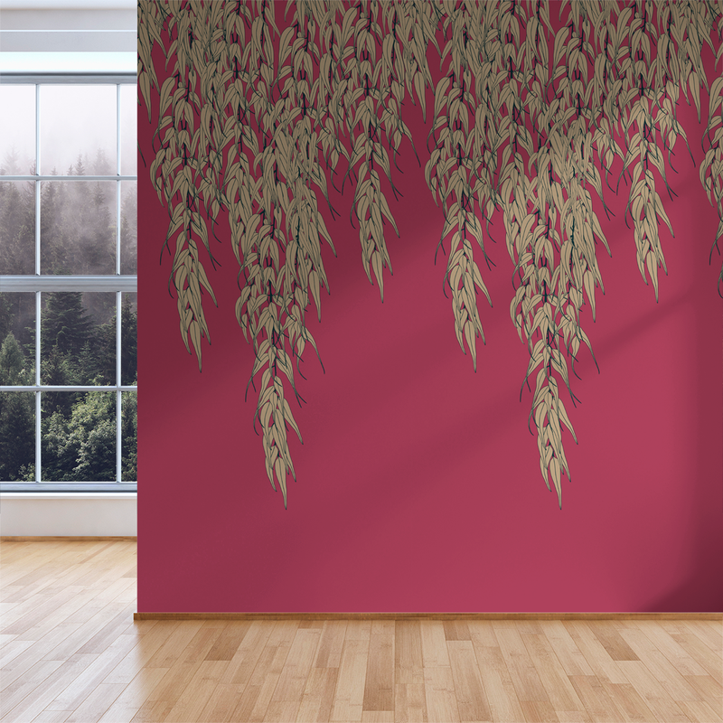 Willow - Harvest - Trendy Custom Wallpaper | Contemporary Wallpaper Designs | The Detroit Wallpaper Co.
