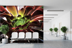 Wine Succulents - Trendy Custom Wallpaper | Contemporary Wallpaper Designs | The Detroit Wallpaper Co.