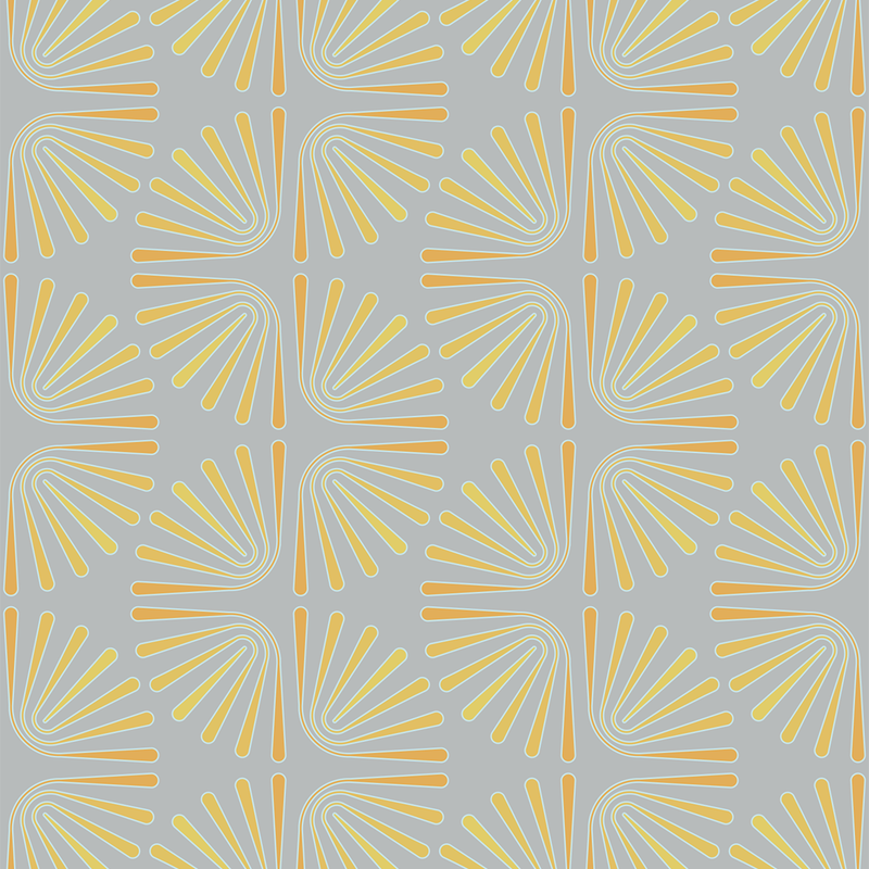 Worm - Sunray - Trendy Custom Wallpaper | Contemporary Wallpaper Designs | The Detroit Wallpaper Co.
