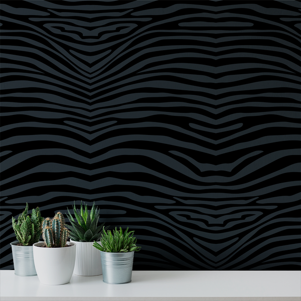 Zebra Dream - Quiet - Trendy Custom Wallpaper | Contemporary Wallpaper Designs | The Detroit Wallpaper Co.