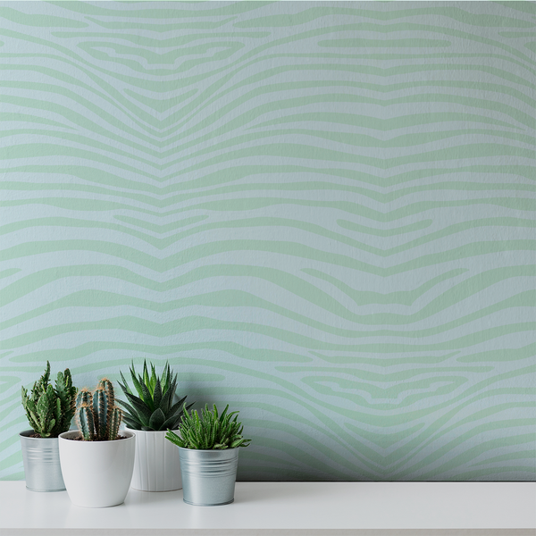 Zebra Dream - Soothing - Trendy Custom Wallpaper | Contemporary Wallpaper Designs | The Detroit Wallpaper Co.