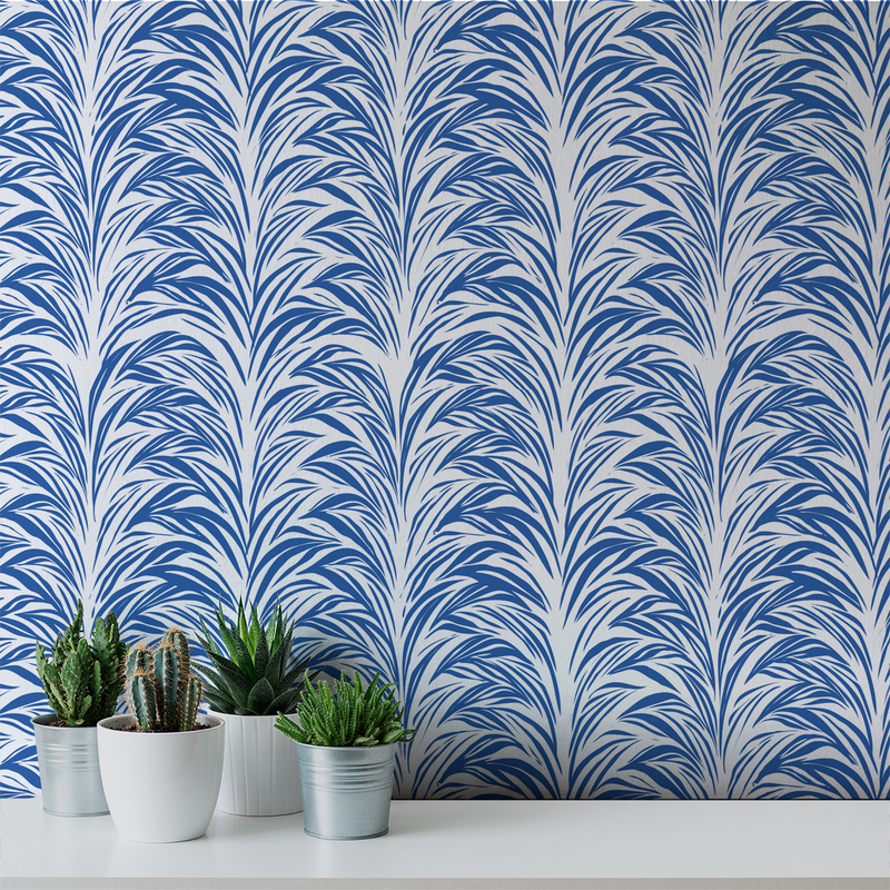 Zebra Fern - Clean <br> Victoria Larson - Trendy Custom Wallpaper | Contemporary Wallpaper Designs | The Detroit Wallpaper Co.