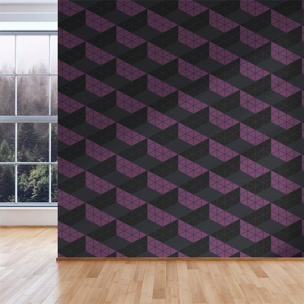 Zig Zag - Evening - Trendy Custom Wallpaper | Contemporary Wallpaper Designs | The Detroit Wallpaper Co.