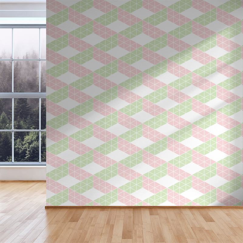 Zig Zag - Petal - Trendy Custom Wallpaper | Contemporary Wallpaper Designs | The Detroit Wallpaper Co.