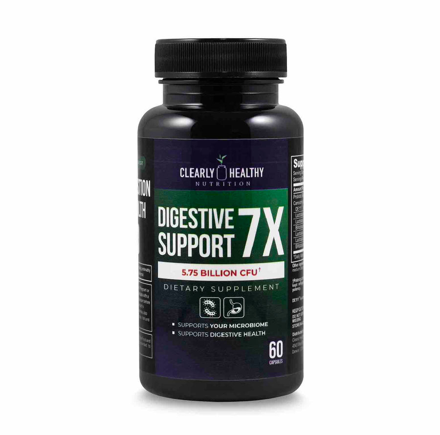 Clearly Healthy  Digestive Support 7X Probiotic 5.75 Billion CFU - 60 capsules