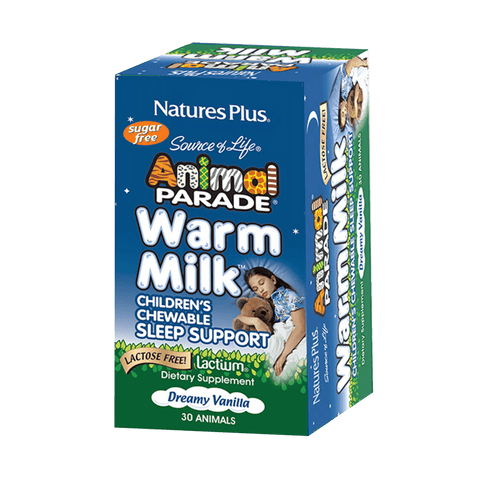 Animal Parade® Warm Milk® Children's Chewable Sleep Support - Dreamy Vanilla Flavor