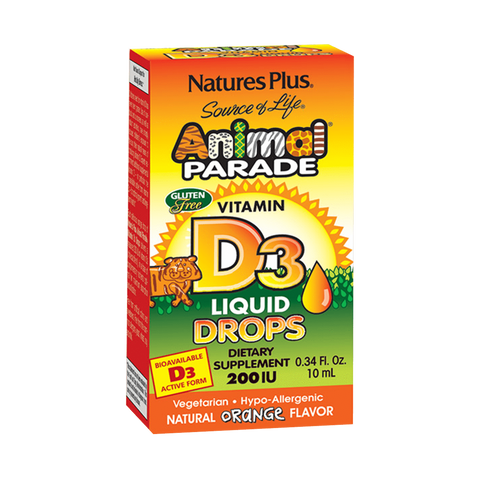 Animal Parade Vitamin D3 200 IU Liquid Drops - Orange Flavor